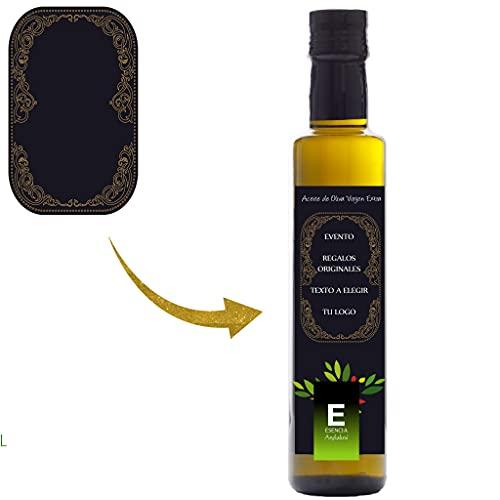 Pack Aceite de Oliva Virgen extra 250 ml Personalizada, Botellas Personalizadas, Regalos Orginales, Aceite Personalizado, regalo eventos, regalo bodas, Personalizados (6 Unidades)