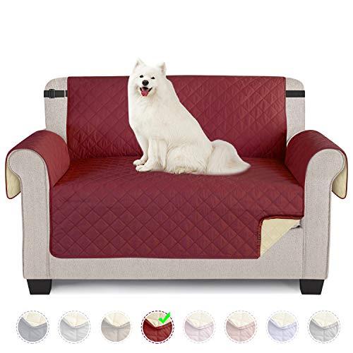 TAOCOCO Funda de sofá Impermeable Funda de cojín de protección para Mascotas Funda de sofá antisuciedad (Rojo/ 2 Plazas 120 * 190cm)