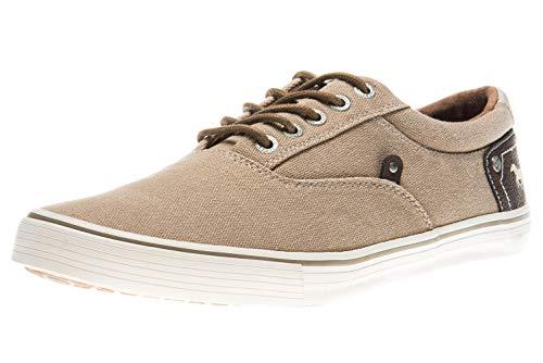 MUSTANG Shoes Sneaker in Übergrößen Sand 4101-301-44 große Herrenschuhe, Größe:49