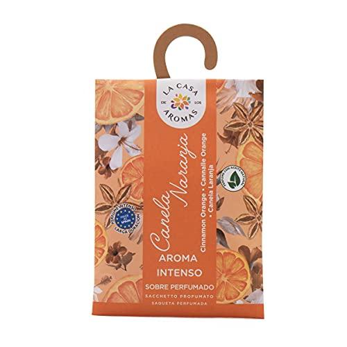 Set de 12 Sobres Perfumados, Bolsitas Aromáticas Olor Canela Naranja, Saquitos para el Armario, Cajón, Ropa de Bebé, Zapatero, Maleta (Canela Naranja)