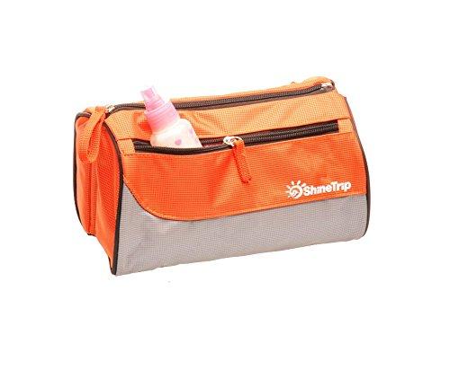 Tessuto impermeabile removibile Tumecos colore azzurro-viaggio Shaving Accessories Wash Bag Arancione arancione