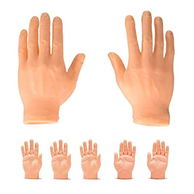 Finger Hands Finger Puppets Tiny Hands Left & Right Hands for Party and Game, Set of 5 by Intustru