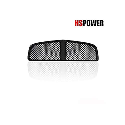 HS Power Black Front Grill Honeycomb Sport Mesh Front Hood Bumper Grille 2005-2010 for Dodge Charger