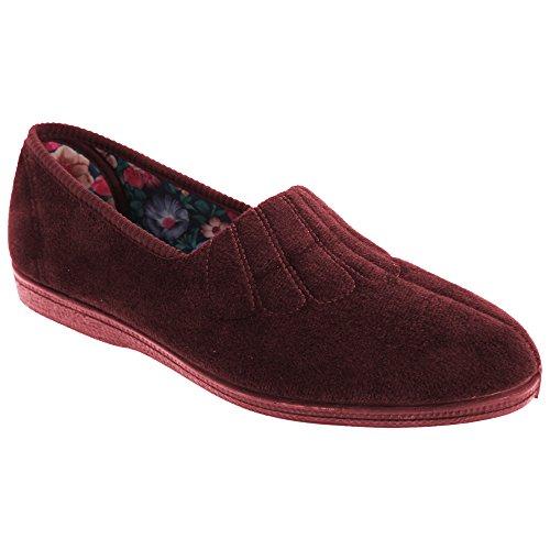Sleepers - Zapatillas de Estar por casa Modelo Zara de Ancho Especial para Mujer (42) (Vino)