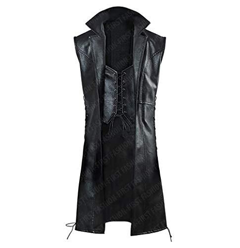 Fashion_First DMC V Mysterious Cosplay Kostüm Ledermantel Gr. S, V Mantel Kunstleder