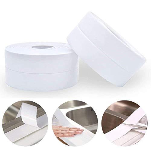 2 Stück Selbstklebende Dichtband, Moker Schimmel Beweis Dichtungsband Wasserdicht für Badezimmer Dusche Küche Fenster und Türen
