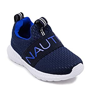 Nautica Kids Boys – Girls Fashion Sneaker Slip-On Athletic Running Shoe for Toddler and Little Kids-Mattoon-Navy/Blue Pop-5