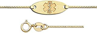 14K Gold Medical ID Anklet - 7 INCHES or 8 INCHES