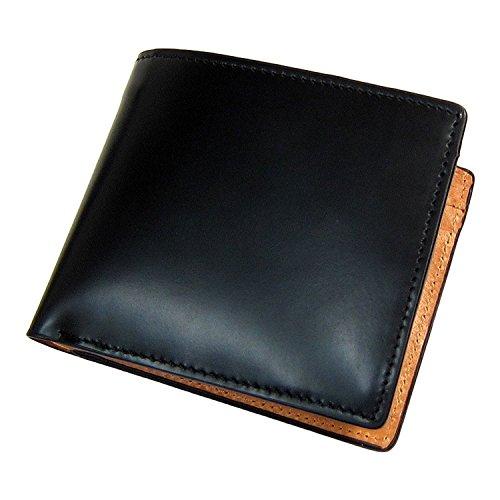 際立つ素材の香り!コードバン×バッファローレザー 高級二つ折り財布 [ Maturi ] 誕生日プレゼント 財布 メンズ 3042