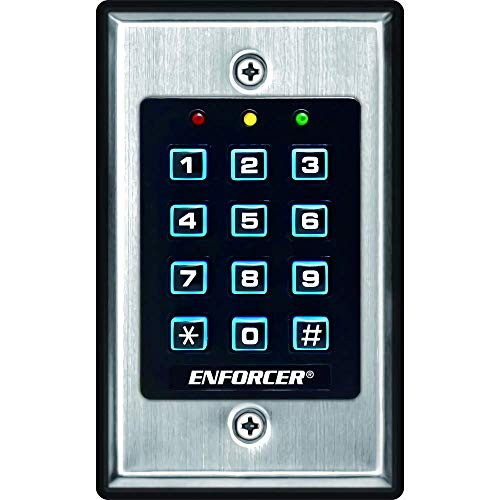 Seco-Larm SK-1011-SDQ ENFORCER Access Control Keypad, Up to 1,000 possible user codes (4-8 digits), Output can be programmed to activate for up to 99,999 seconds (nearly 28 hours)