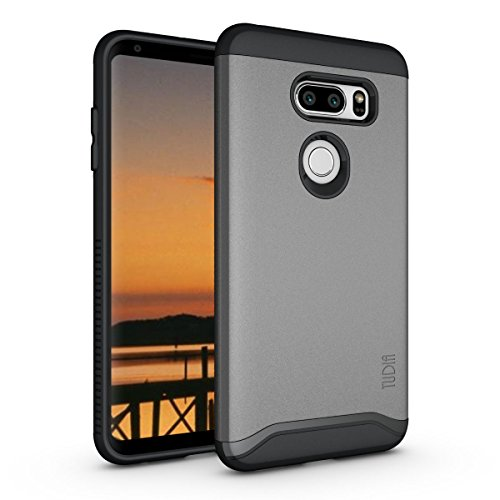 LG V35 ThinQ Hülle, TUDIA Slim-Fit Merge Dual Layer Schutzhülle für LG V35 ThinQ (Metallic Slate)