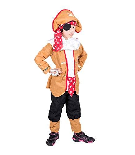 Pirat-en Kostüm-e F137 Gr. 104-110, Kinder-Kostüme Piratin Seeräuber klein-e Mädchen u. Jung-en Fasching-s Karneval-s Geburtstags-Geschenk