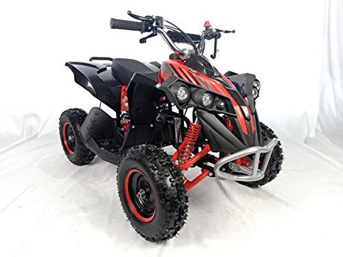 Mini quad de gasolina con motor de 49cc de 2 tiempos -ATV17 KING KONG. / Mini quad para niños de 5 a 12 años/miniquad infantil (ROJA)