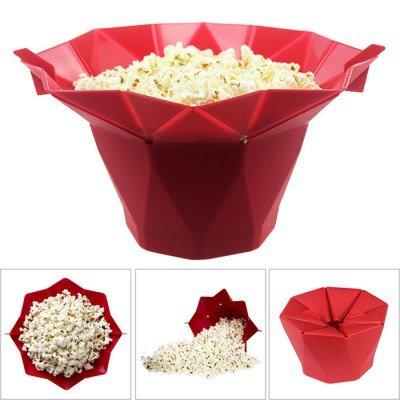 Sevia Silicone Collapsible Microwave Popcorn Popper | Micro-Popper | Popcorn Maker | Kitchen Baking Tools (Multi Color)
