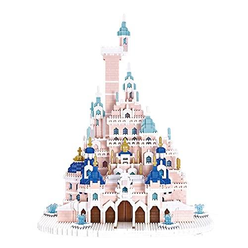 Mr.LQ Castillo De Princesa Castillo De Princesa, Castillo De Ensueño Edificio Modular De Mini Ladrillos, Kit De Construcción Arquitectónica No Compatible con Lego