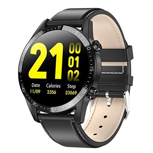 CZX Smartwatch Herren L13C Frauen-Smartwatch MTK2502 1.4 IPS Full Touch Screen-IP68 wasserdichte Puls-Monitor-Anti-verlorene Fitness Tracker,A