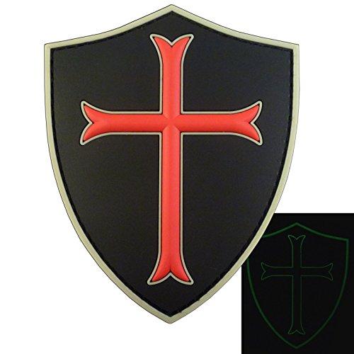 LEGEEON US Navy Seals DEVGRU Crusaders Templar Knight Cross Morale PVC 3D Touch Fastener Patch