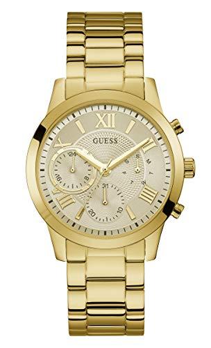Guess Damen Multi Dial Uhr Solar mit Edelstahl Armband