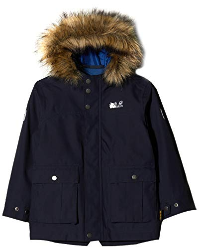 Jack Wolfskin Jungen B ELK Island 3IN1 Parka, Night Blue, 164