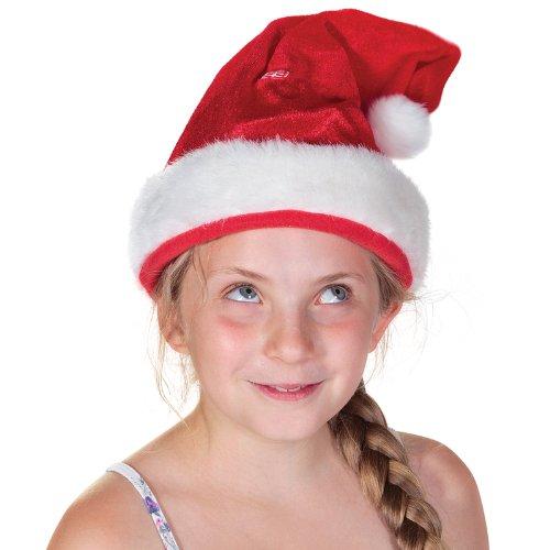 Tobar 18718 Singende und Tanzende Weihnachtsmannmütze, rot weiß
