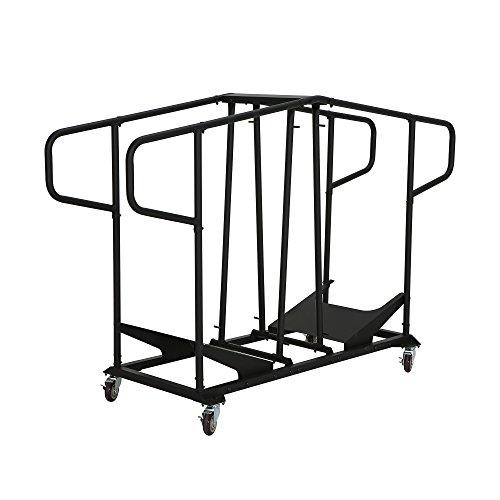 Lifetime-Trolley Stühle schwarz 220,4x 70,8x 139,8cm 80525
