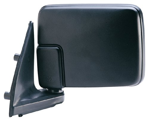 Fit System Driver Side Mirror for Dodge D50 Pick-Up, Mitsubishi Pick-Up, Black, Foldaway, Manual