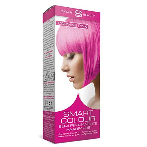 Carmine Pink semi-permanente Haarfarbe |Ohne Ammoniak, Parabene, Sulfate und PPD | 100% vegan, ohne Tierversuche | Smart Beauty