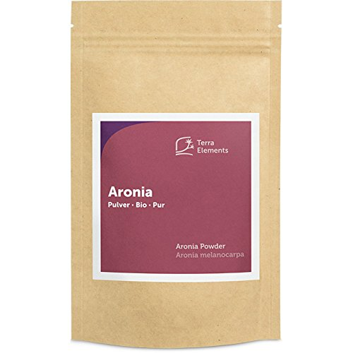 Terra Elements Bio Aronia Pulver 100 g I Tresterpulver I 100% rein I Vegan I Rohkost