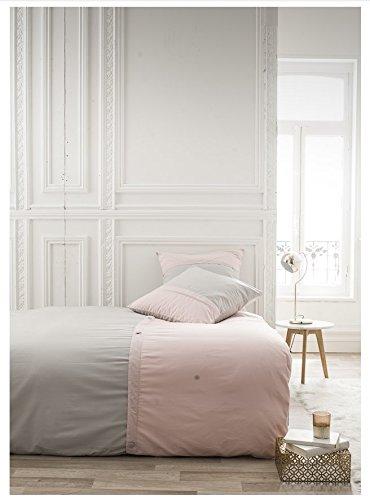 TODAY Housse de Couette et Taies d'oreiller, Gris, 240 x 260 cm