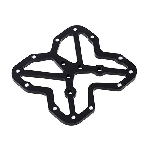 JINSUO Moonlight Star Bike Pedals-Bicycle Pedal Adapter Platform Bicycle unbuckle Aluminum Alloy (Color : Black)