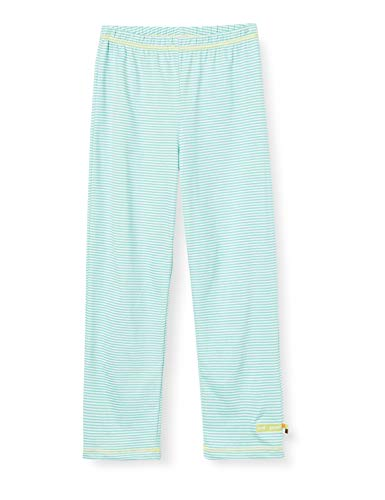 loud + proud Mädchen Light Striped Pant Organic Cotton Hose, Grün (Mint Min), (Herstellergröße: 74/80)
