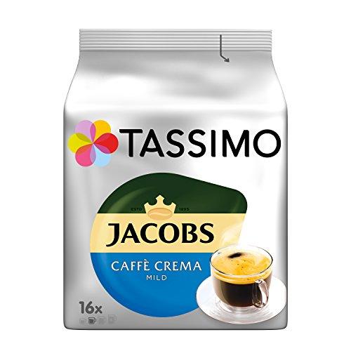 Tassimo Kapseln Jacobs Caffè Crema Mild, 80 Kaffeekapseln, 5er Pack, 5 x 16 Getränke