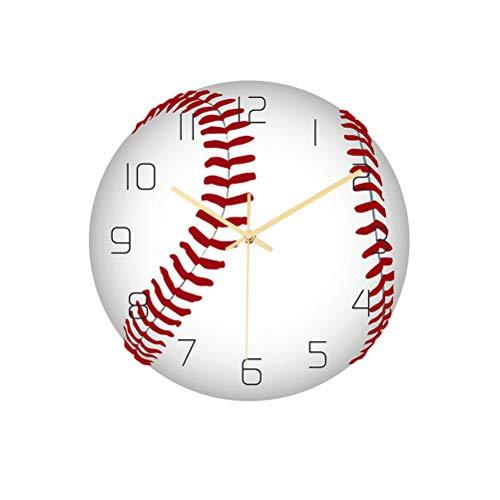 SXZG Reloj de Pared Moderno y Deportivo, Funcionamiento silencioso de la batería, Utilizado para la Escuela en casa, fútbol, Baloncesto, Voleibol, béisbol, Tenis, Reloj de Pared de Golf