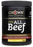 Crown Sport Nutrition 100% All Beef, Concentrado proteico de carne de vacuno con Hierro Hemo, B12, B6 entre las 20 vitaminas y minerales de forma natural, Sabor de Vainilla - 200 g