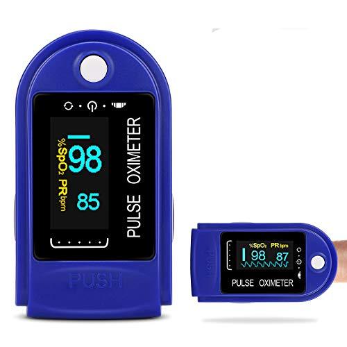 Oxímetro de Pulso, Pulsioximetro de Dedo Profesional con Pantalla OLED que Medición y Lectura Instantánea de SpO2, PR y PI Aplica para Adultos y Niños(rosa)
