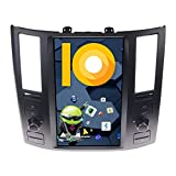 ZWNAV One din Android 9.0 Tesla Android Car Stereo for Infiniti FX35 FX45 2006-2009, Car GPS Navigation Head Unit, HDMI Output, Support Carplay, Android Auto, DSP, Bluetooth 5.0, WiFi, Fast Boot