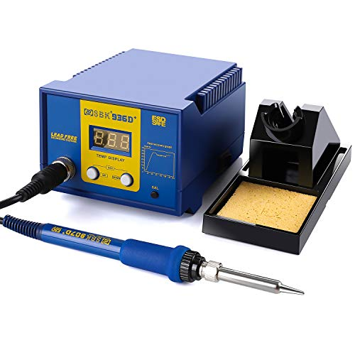 Soldering Station, 60W Digital Display AsFrost Solder Station Welding Iron with Adjustable Temperature (356°F-896°F), Auto Sleep Function, ESD SAFE