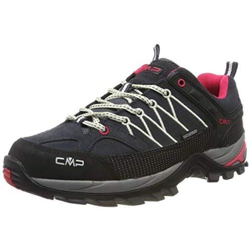 CMP Rigel Low Wmn Trekking Shoes WP, Scarpe da Arrampicata Basse Donna, Grigio (Antracite-off White 76uc), 36 EU
