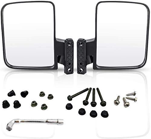 Panglong Golf Cart Universal Folding Side View Mirrors for Club Car, EZGO, Yamaha, Star, Zone Carts