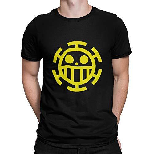 Camiseta Camisa One Piece Trafalgar Law Masculino Preto Tamanho:M