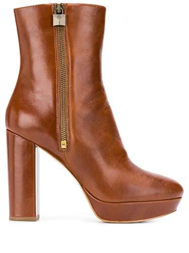 Luxury Fashion   Michael Kors Dames 40F9FRHE9L230 Bruin Leer Enkellaarzen   Herfst-winter 19