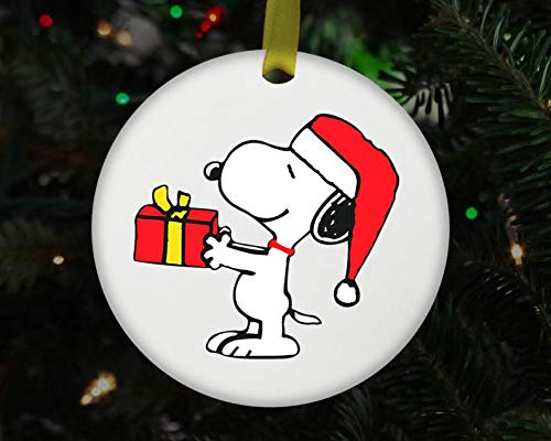 Snoopy Santa Ceramic Ornament Snoopy Lover Christmas Tree Ornament Disney Christmas Xmas 2020 Keepsake Decoration