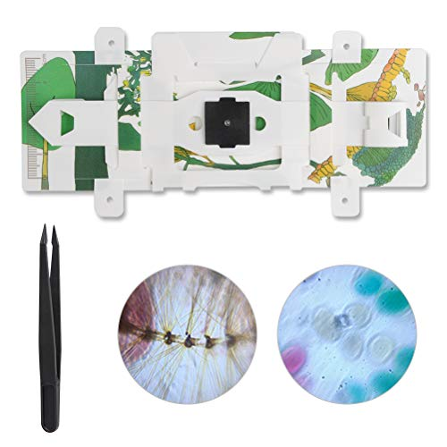 WOWOSS Foldscope Classroom Kit (DIY-Papiermikroskop) Basic Kit - Foldable DIY Paper Microscope