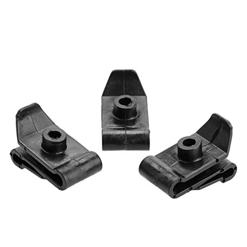 Dophee 50 Pcs 5mm Pom Plug Fastener Hood Support en Plastique Noir Véhicule Clips écrou en Forme U
