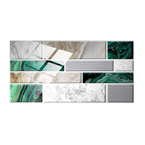 12 adhesivos para azulejos de cocina y baño, 3D, autoadhesivos, para azulejos de pared, 1020 cm