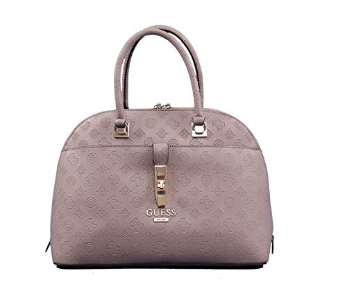 GUESS Peony Classic Large Dome Satchel Taupe One Size