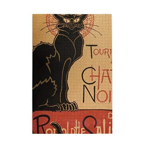 Tour Of Rodolphe Salis Chat Noir   Puzzle de 1000 piezas para adultos y adolescentes, para actividades de aburrimiento, para el cerebro y para decoración del hogar