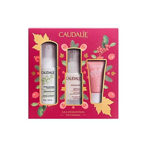 CAUDALIE COFRE VINOSOURCE SERUM S.O.S + MOUSSE LIMPIEZA 50 ML + CREMA SORBETE 15 ML