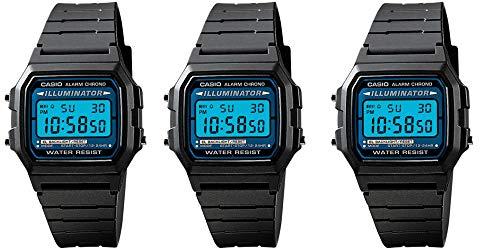 Casio para hombre 'paquete especial Deal 3Iluminador Cronógrafo Alarma relojes modelo f-105W