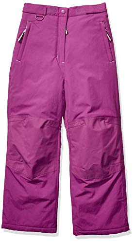 Amazon Essentials Girls' Toddler Water-Resistant Snow Pant, Bright Purple, 3T